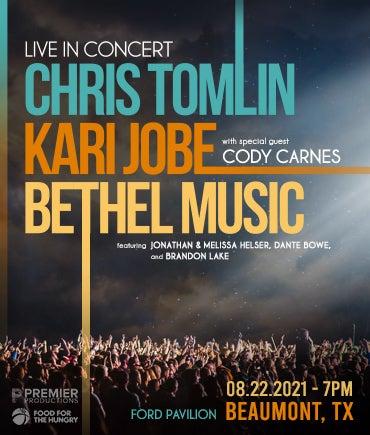 More Info for Chris Tomlin w/Kari Jobe/Bethel Music