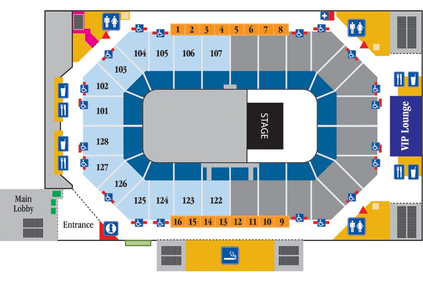 Arena Half house seating chart
