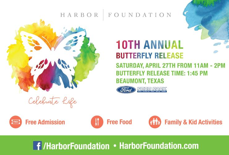 More Info for HARBOR FOUNDATION HOSTS 10TH ANNUAL  BUTTERFLY RELEASE