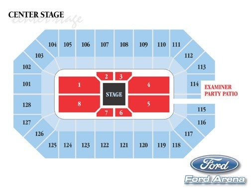 arena center stage seating chart