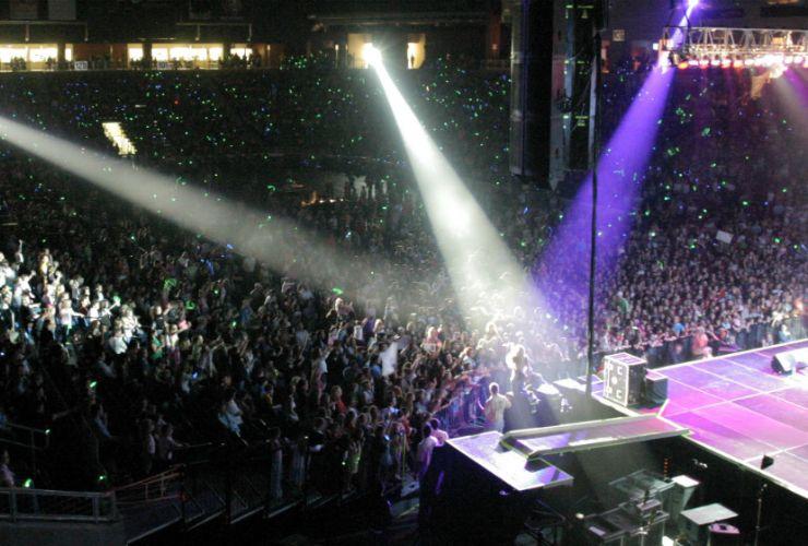 Arena concert spotlight