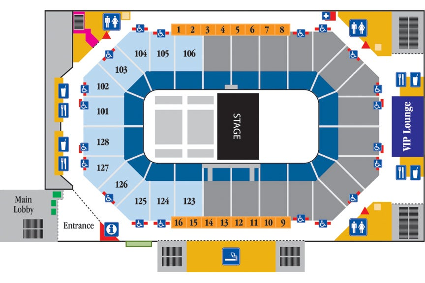 Arena Theater Seating Chart